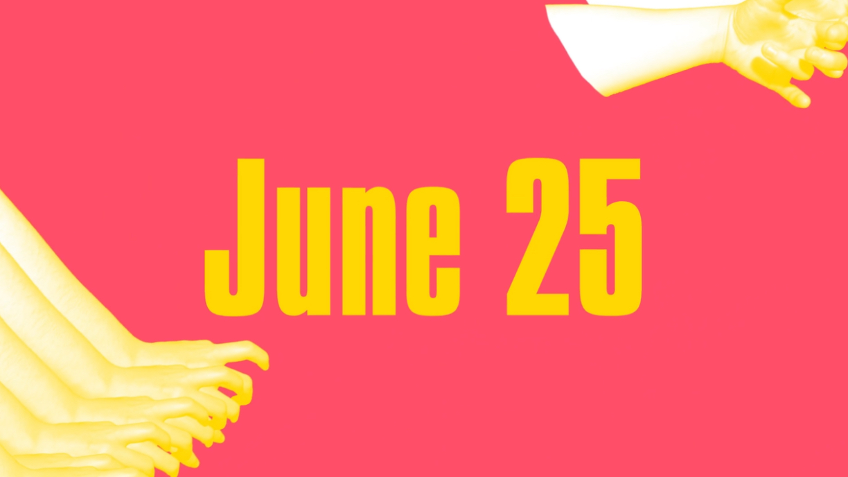 yellow hands repeat with date
