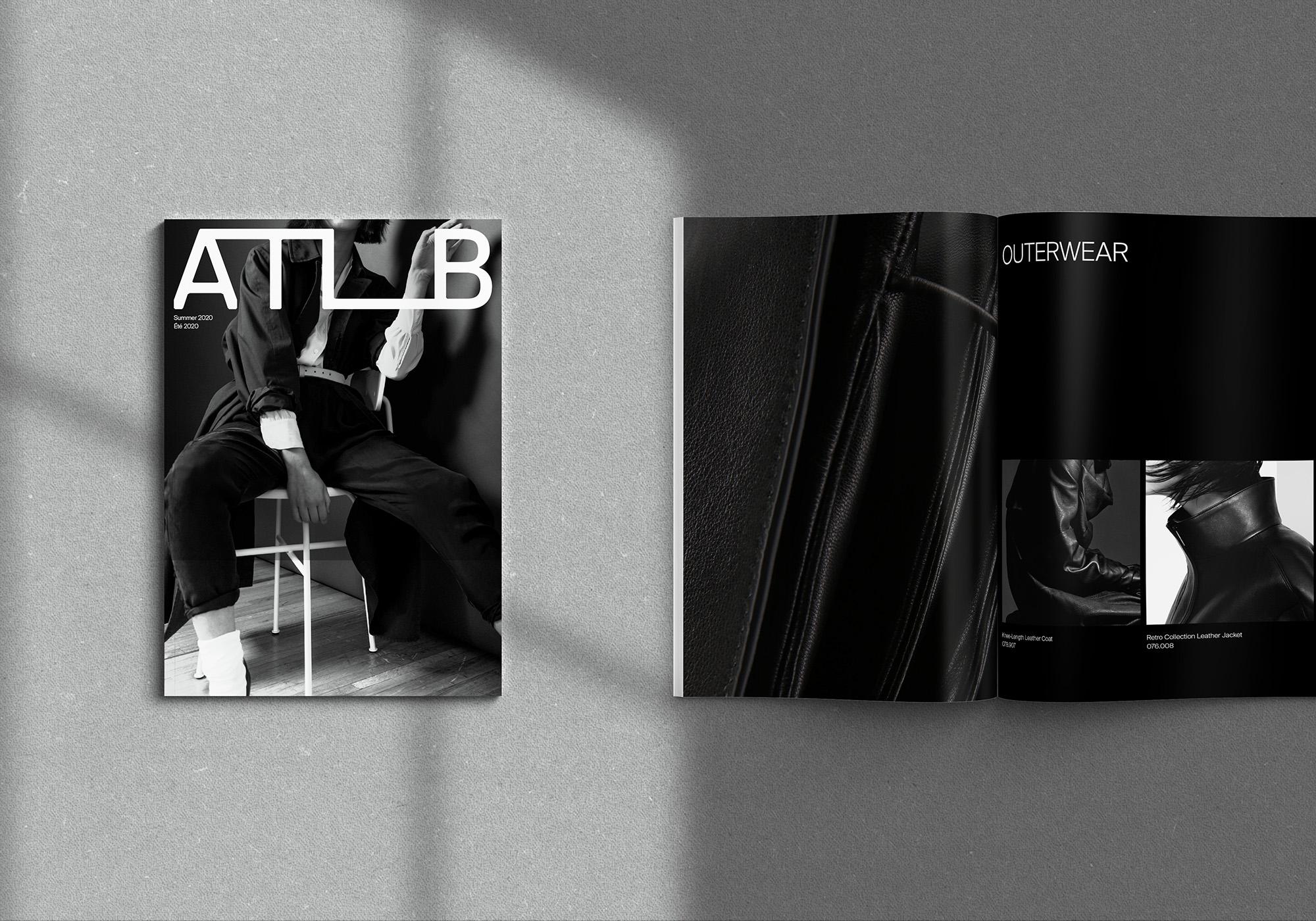 Black and grey branding design of lookbook