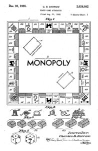 Monopoly game patent