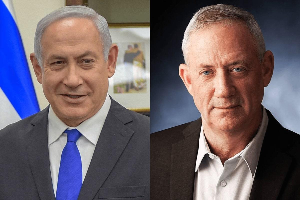 Benjamin Netanyahu and Benny Gantz