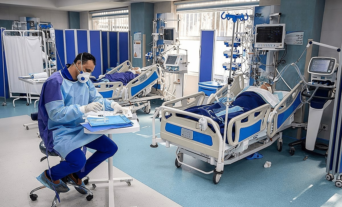 Coronavirus patients at Imam Khomeini Hospital, Tehran