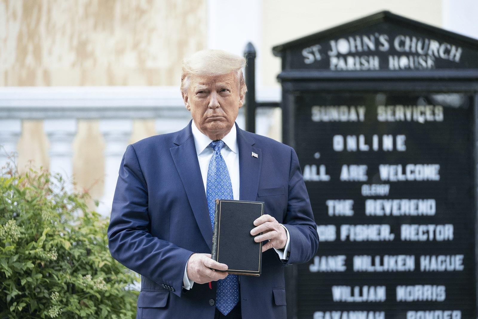 President Trump visits St. John Episcopal Church, Washington