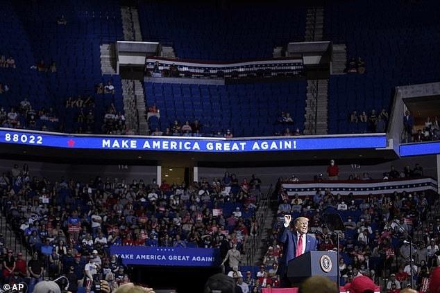 President Trump at Tulsa