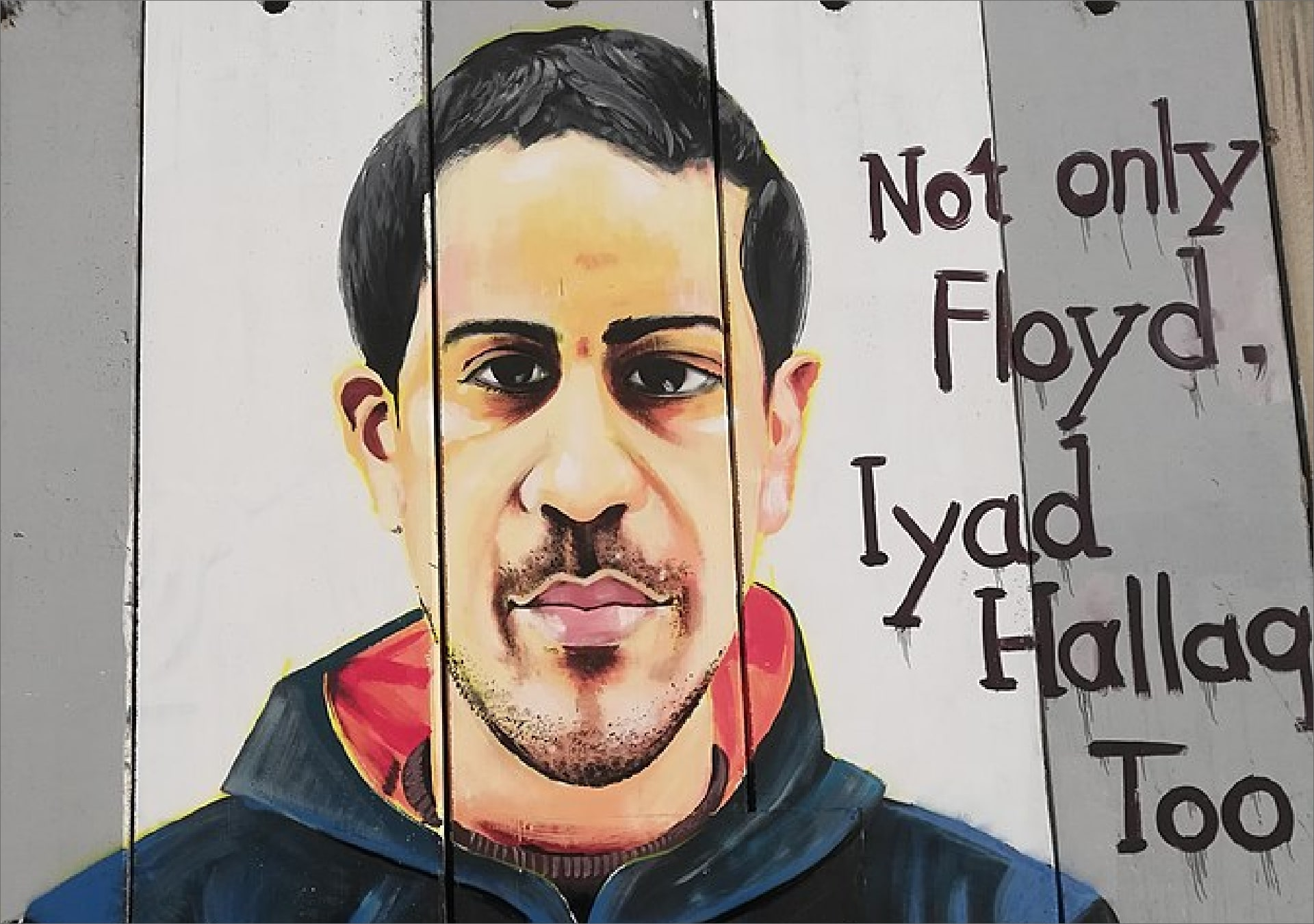 Mural of Eyad Hallaq, Bethlehem, Palestine