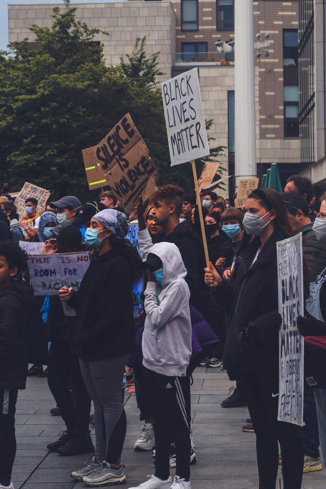 """Black Life Matters"" Protest at Southampton, UK"