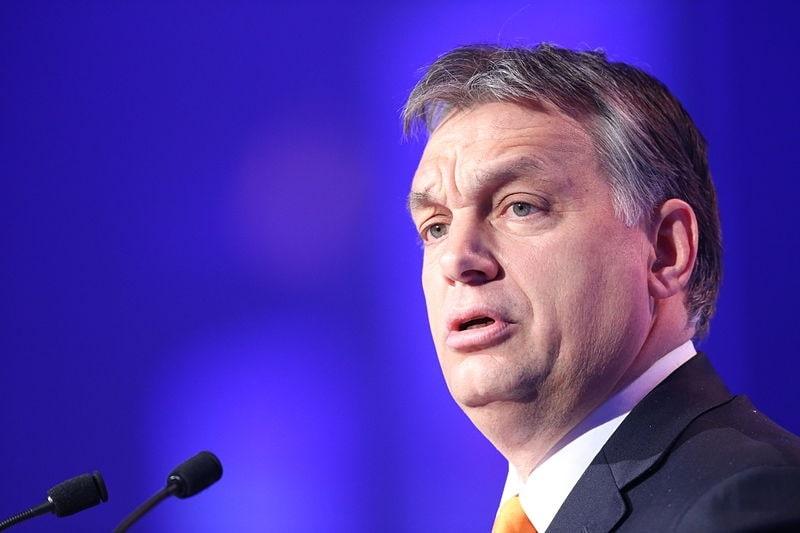 The Hungarian Prime Minister, Viktor Orban