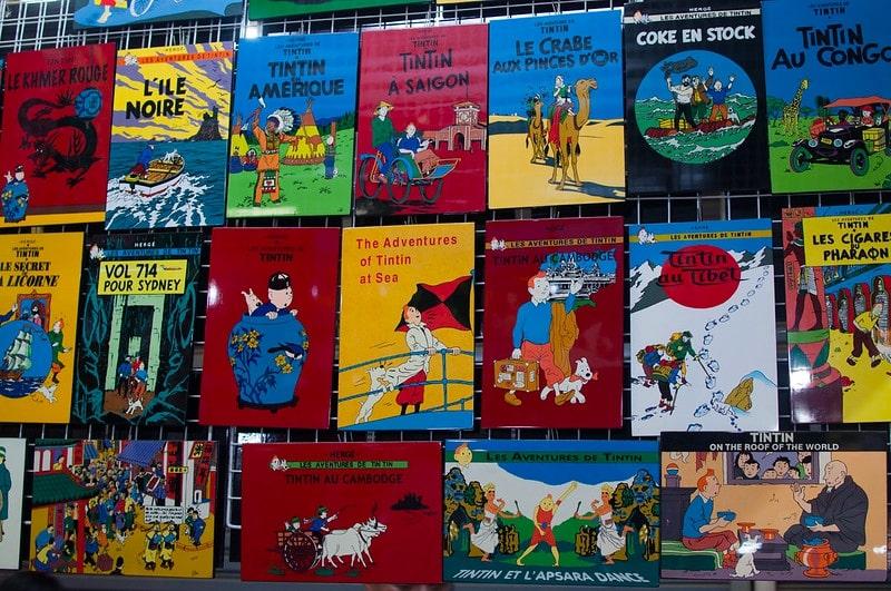 A collection of Tintin Comics