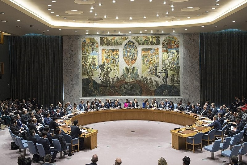 United Nations Security Council meeting