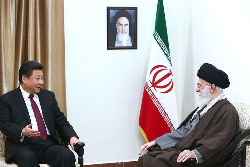 Xi Jinping, the Chinese President with the Supreme Leader of Iran, Ayatollah Ali Khamenei