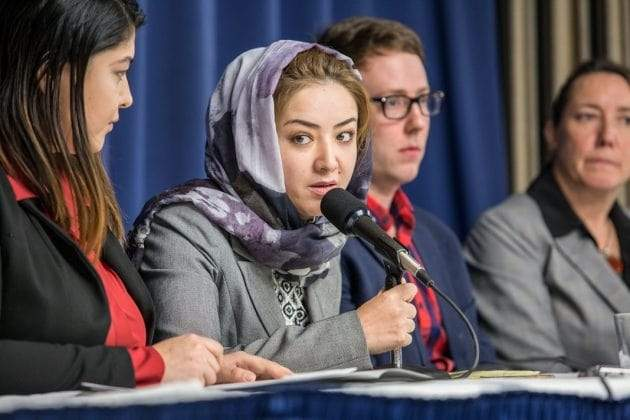 Mihrigul Tursun, former detainee at Uyghur mass internment camps in China, testifying in Washington