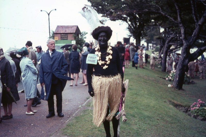 A person wearing Blackface
