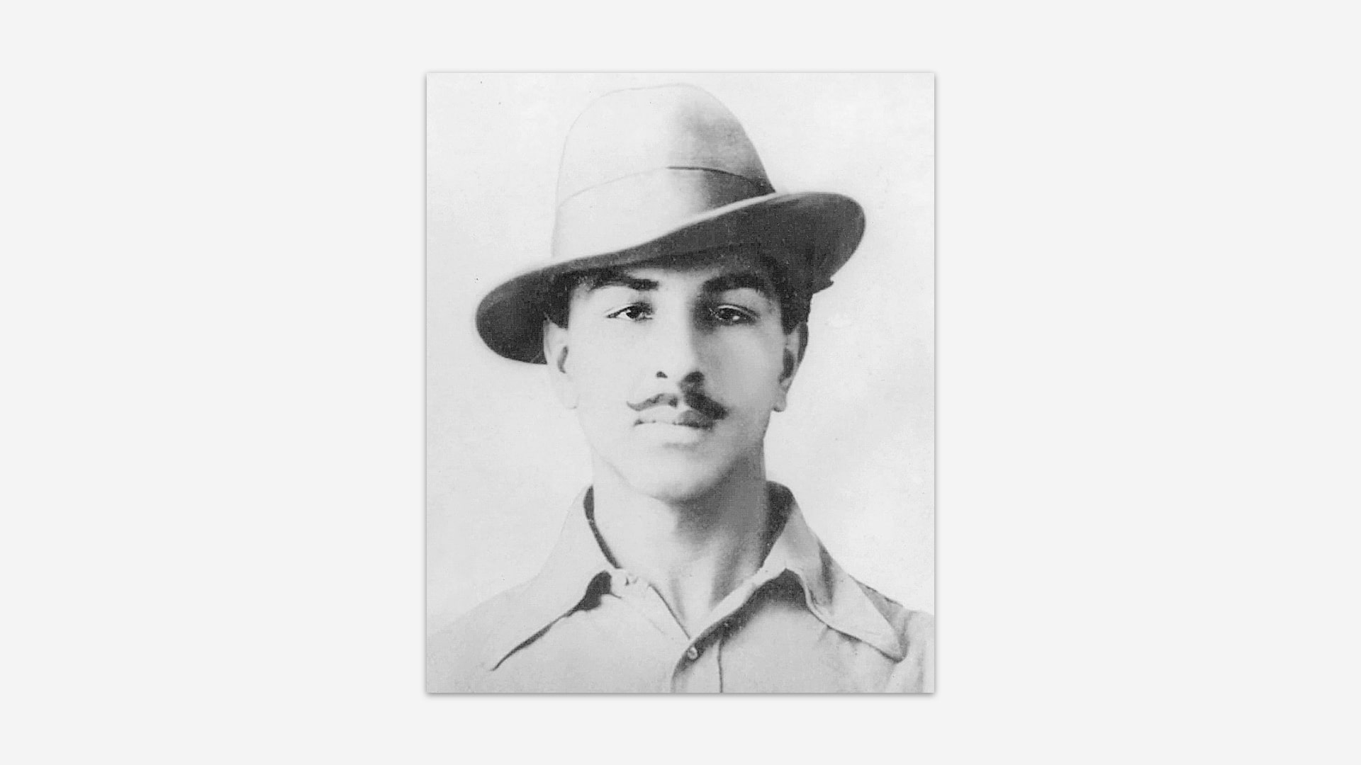 21 year old Bhagat Singh's photograph