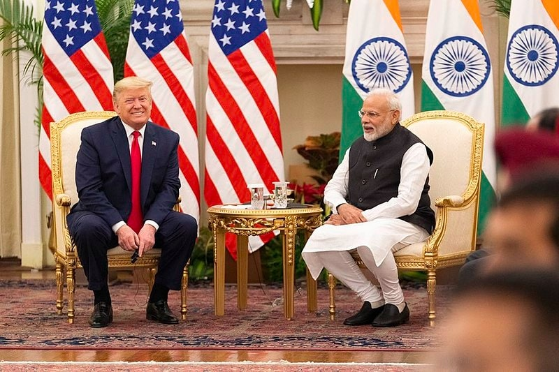 President Trump and Prime Minister Modi in India-US bilateral meeting