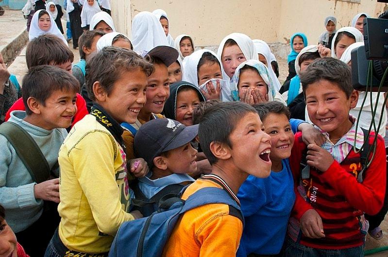 Hazara Children at Bamyan, Afghanistan