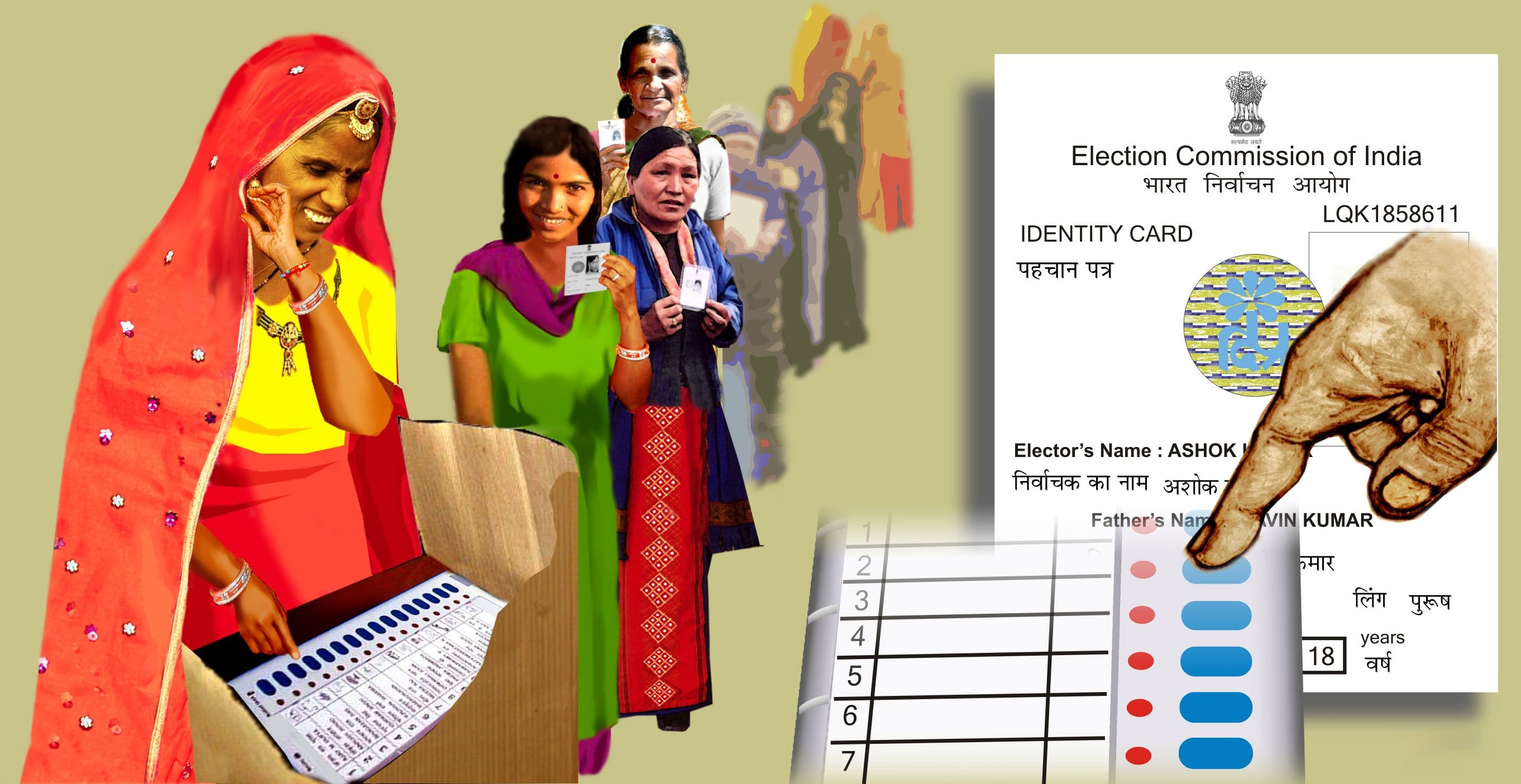 Representative image of people voting
