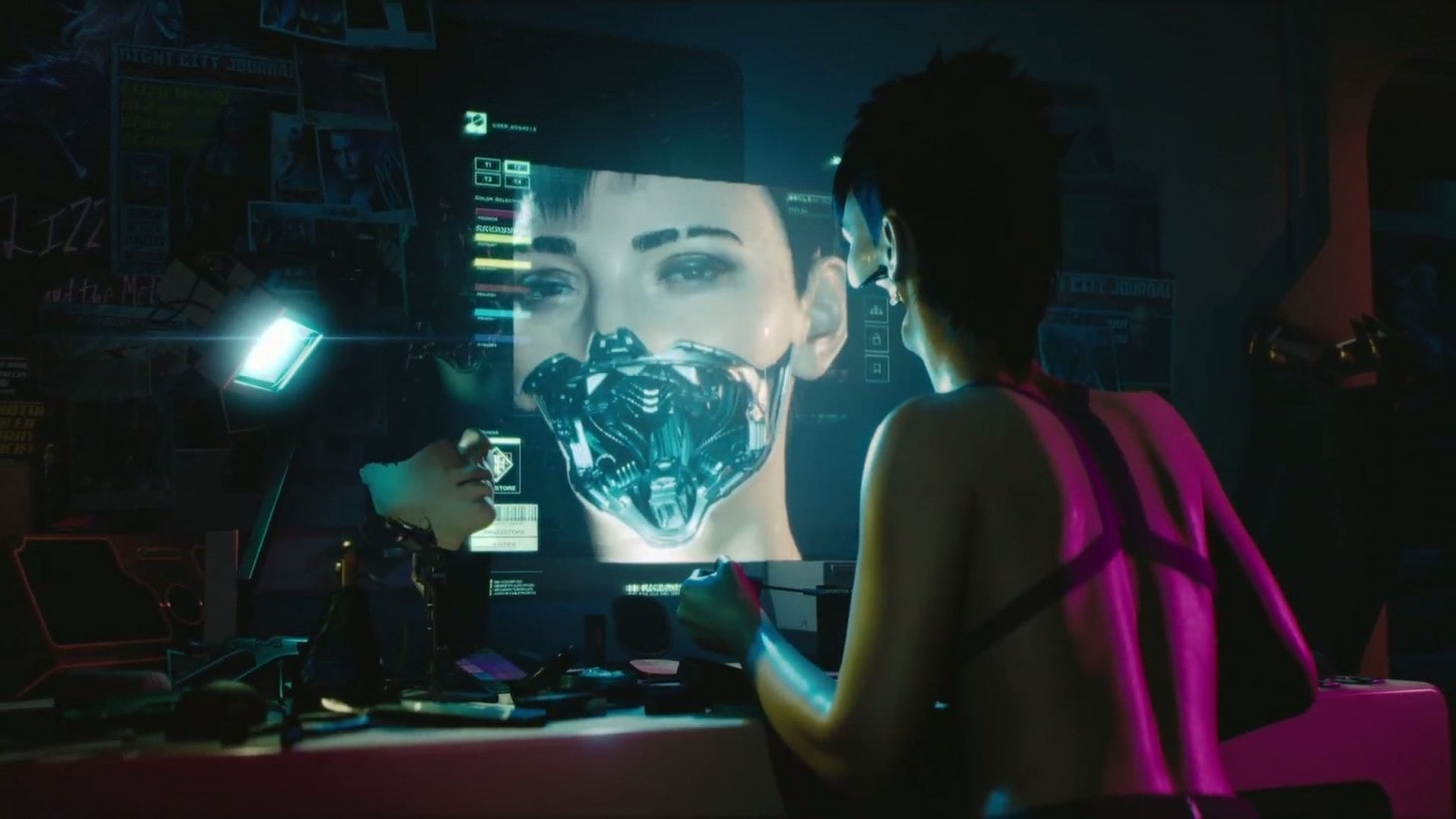 A still from Cyberpunk 2077