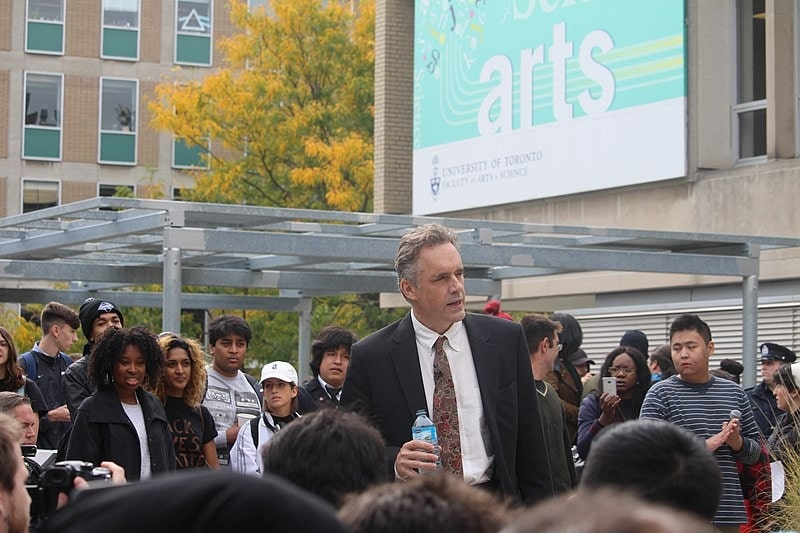 Jordan Peterson speaking at a Free Speech Rally at the University of Toronto