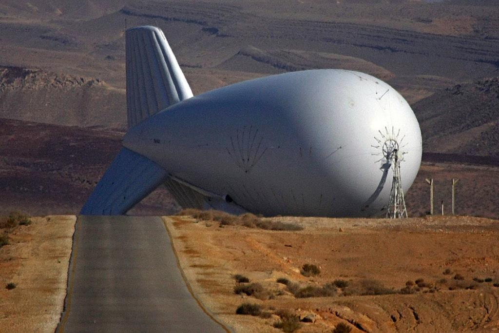 Israeli Surveillance Zeppelin near Gaza