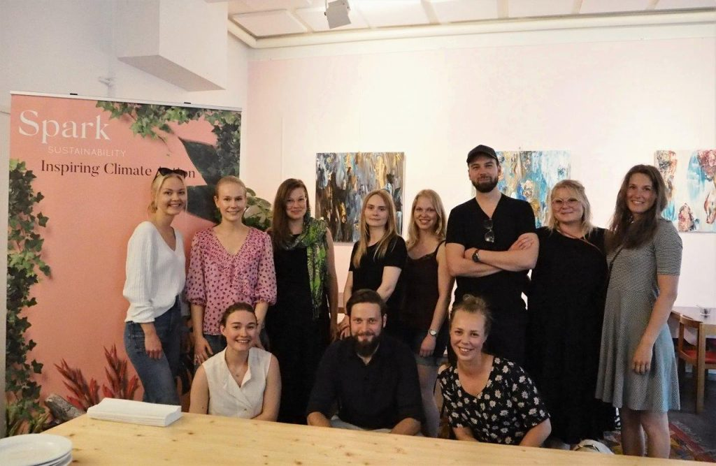 Group picture from Spark's climate coaching