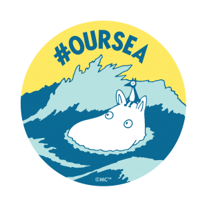 Official #OURSEA logo, Moomin swimming