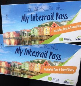 Two interrail passes – interrailing is the perfect sustainable travel.