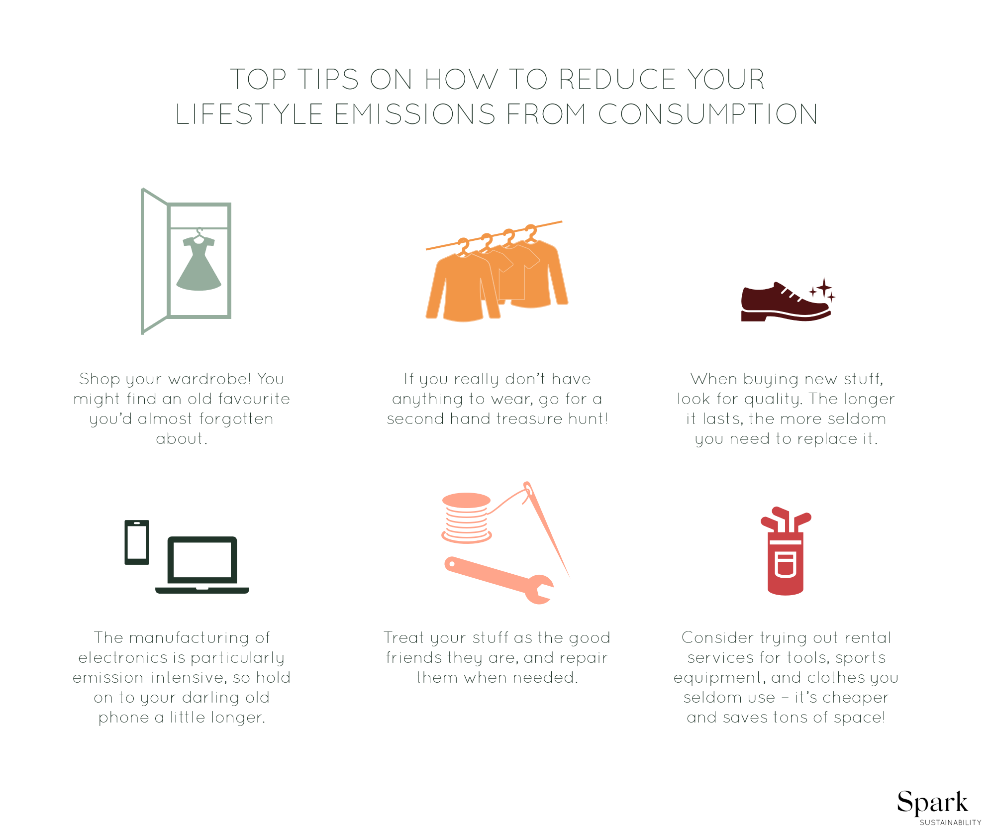 Sustainable consumption – top 6 tips on how to reduce lifestyle emissions from consumption.