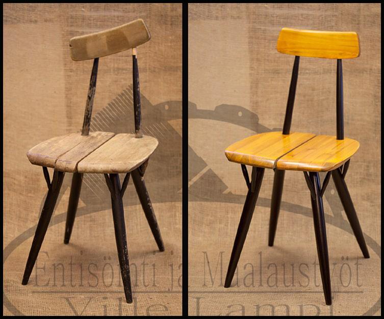 Entisöity design tuoli
