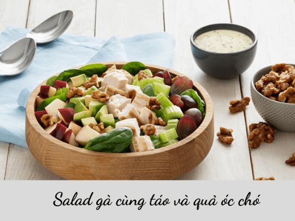 Cách chế biến hạt óc chó với salad