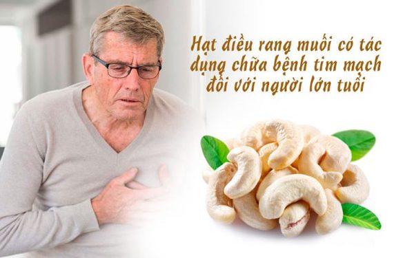 Tác dụng hạt điều với tim mạch