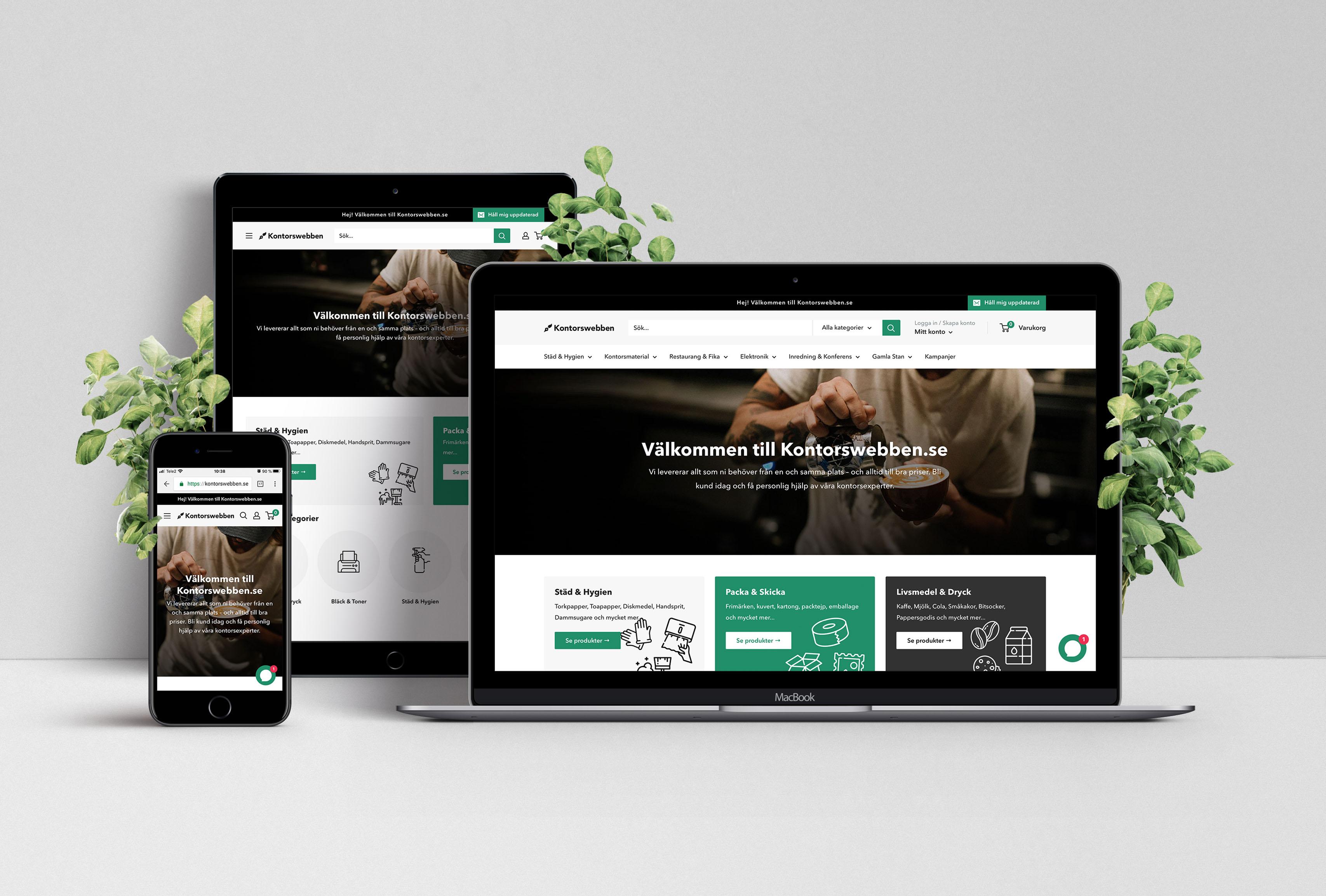 Webbshop & varumärke ~ Kontorswebben.se