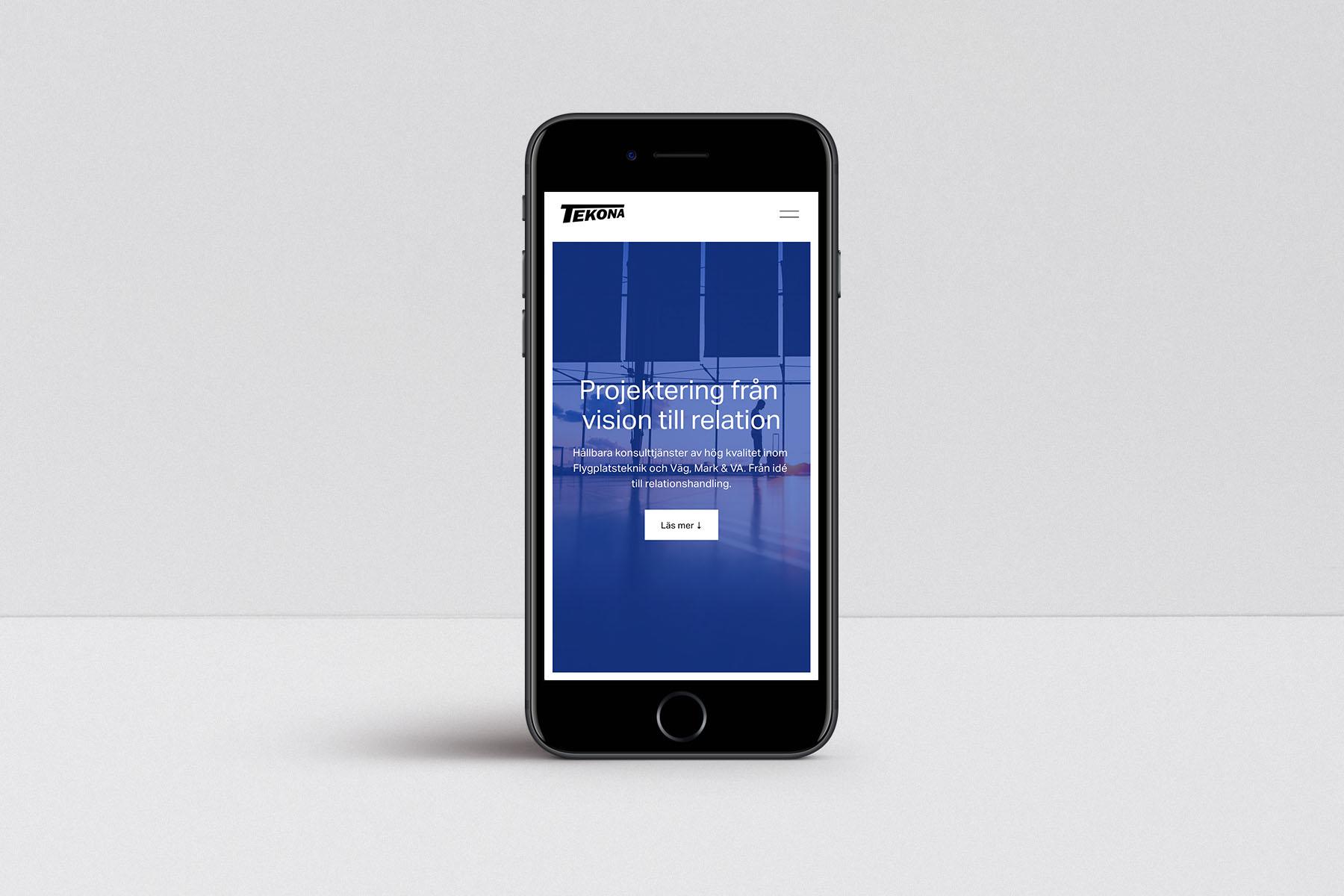Mobil med företagshemsidan - Kontorswebben.