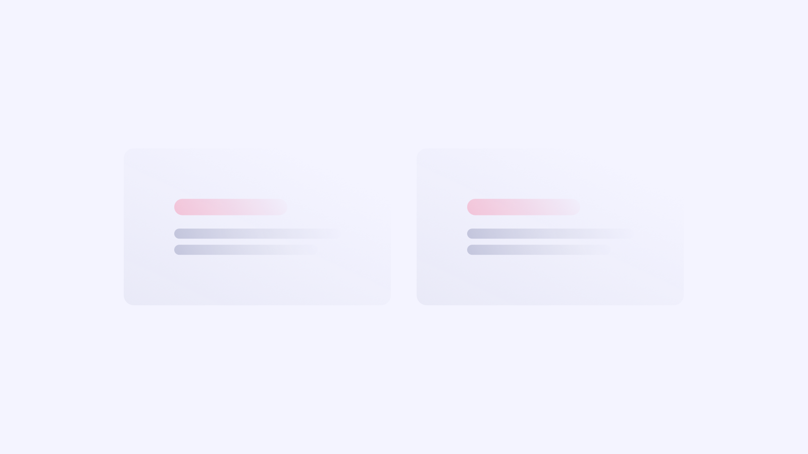 These two blocks have the content with the same styling. The pink lines give the impression that they are related.