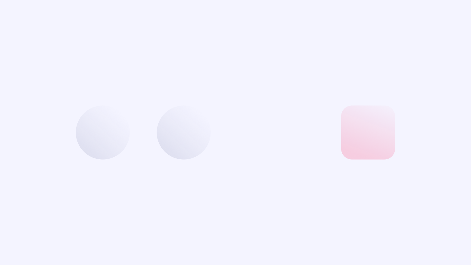 The rounded circles are together, so they are related. The square is further away, so it belongs to a different content type.