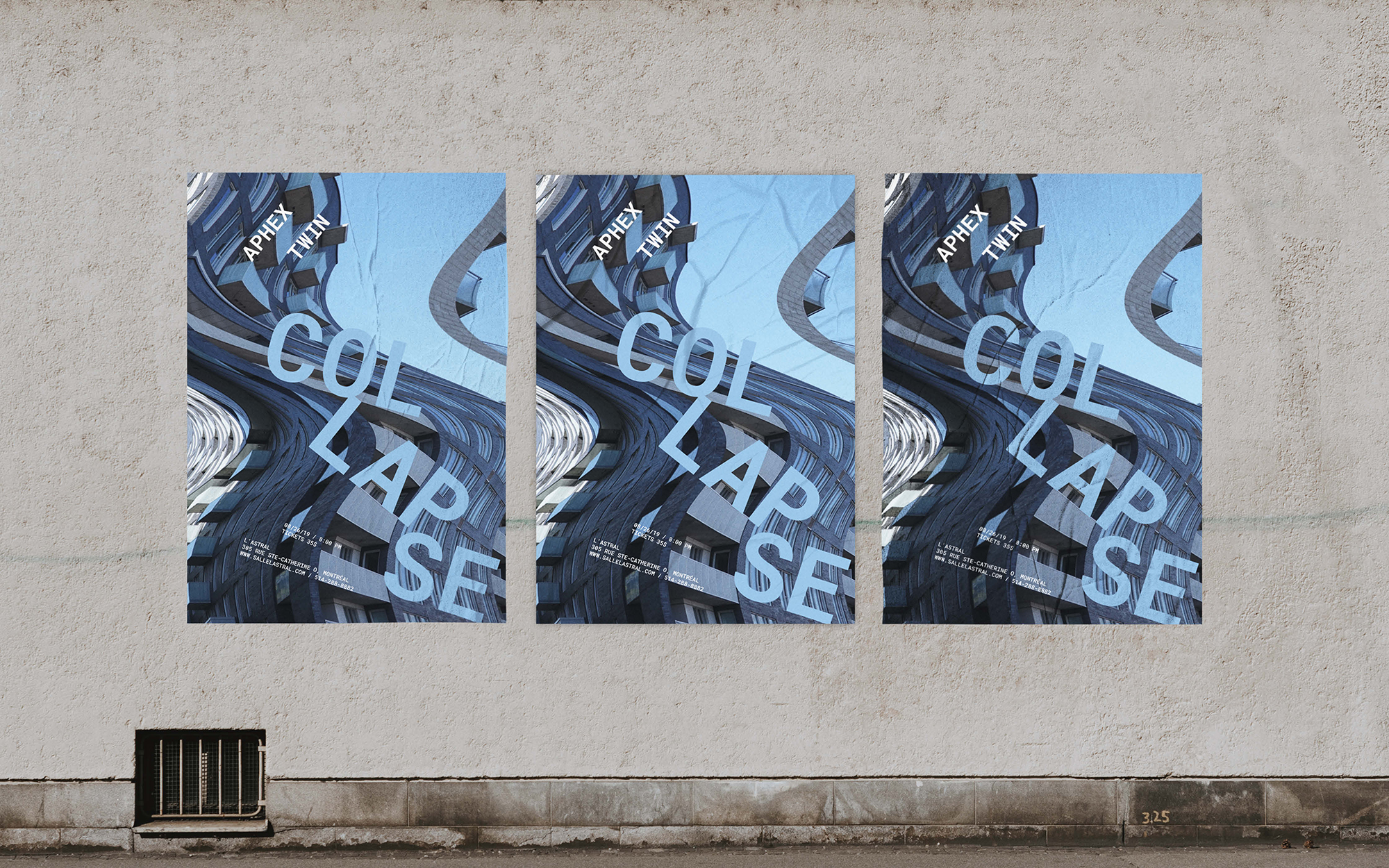Aphex Twin Collapse poster mockup