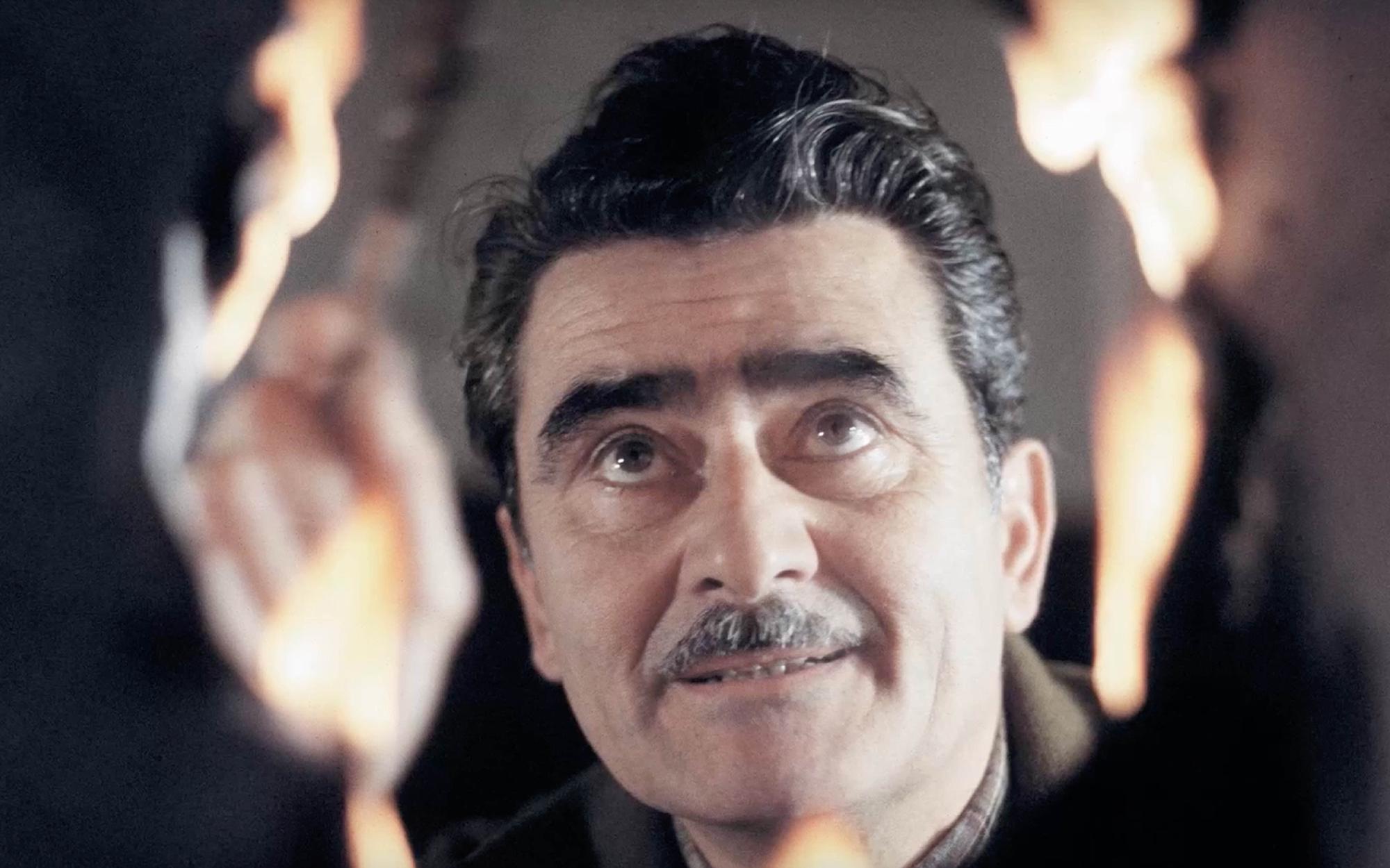 Alberto Burri burning plastic
