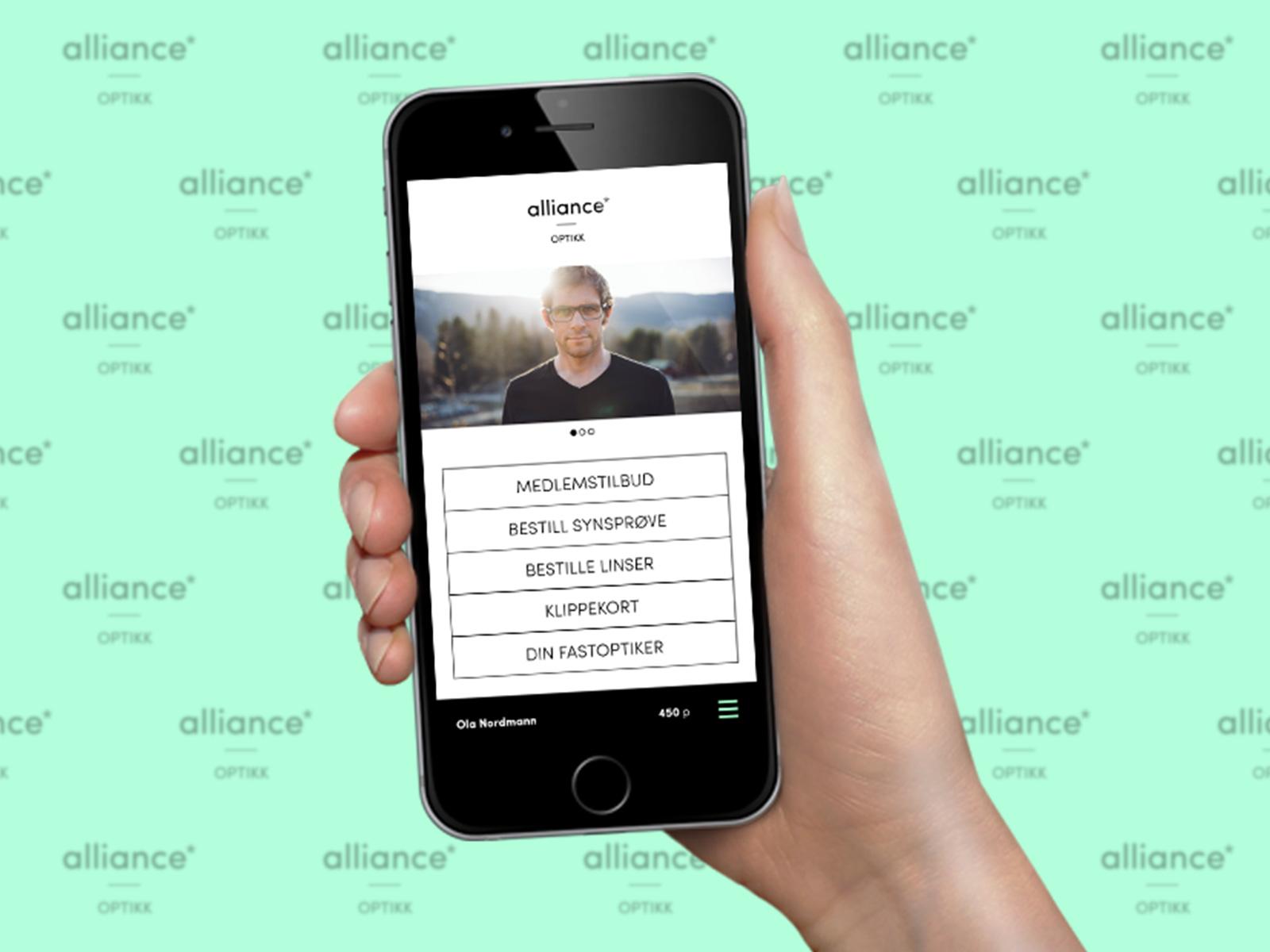 Alliance optikk kundeklubb app