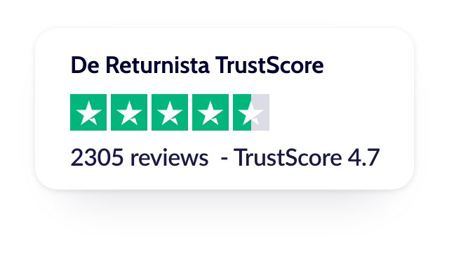 Our 4.7 out of 5 star rating on Trustpilot