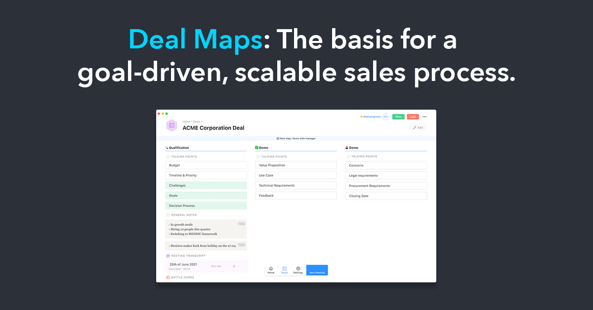 Deal Maps: The basis for a goal-driven, scalable sales process