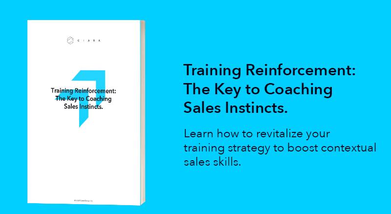 Training Reinforcement: The Key to Coaching Sales Instincts