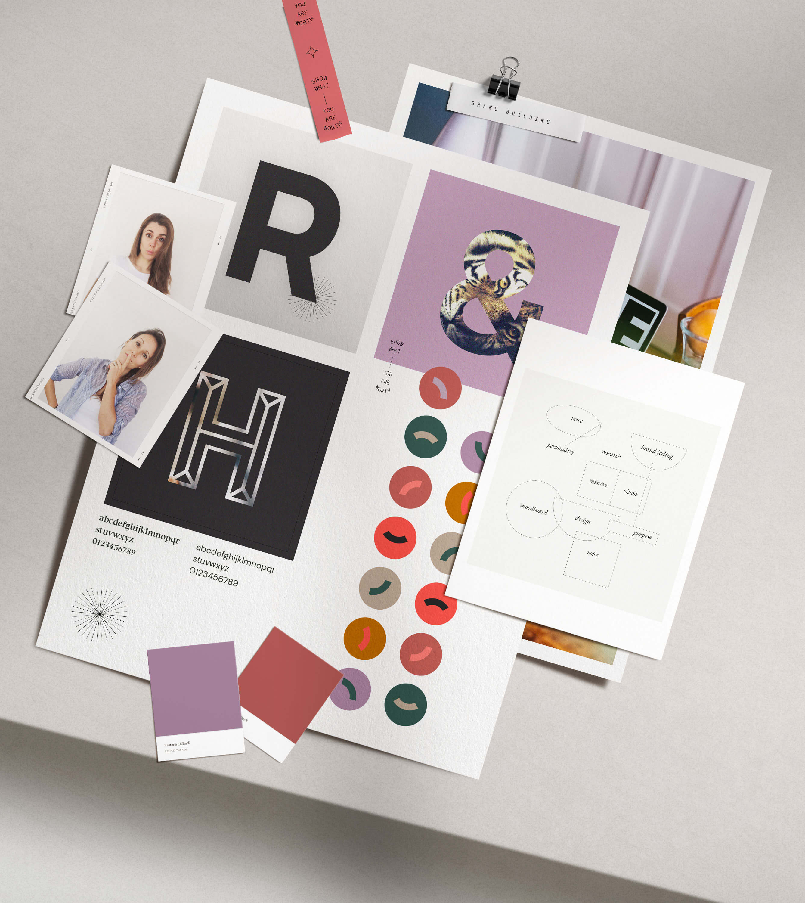 Brand elements collage