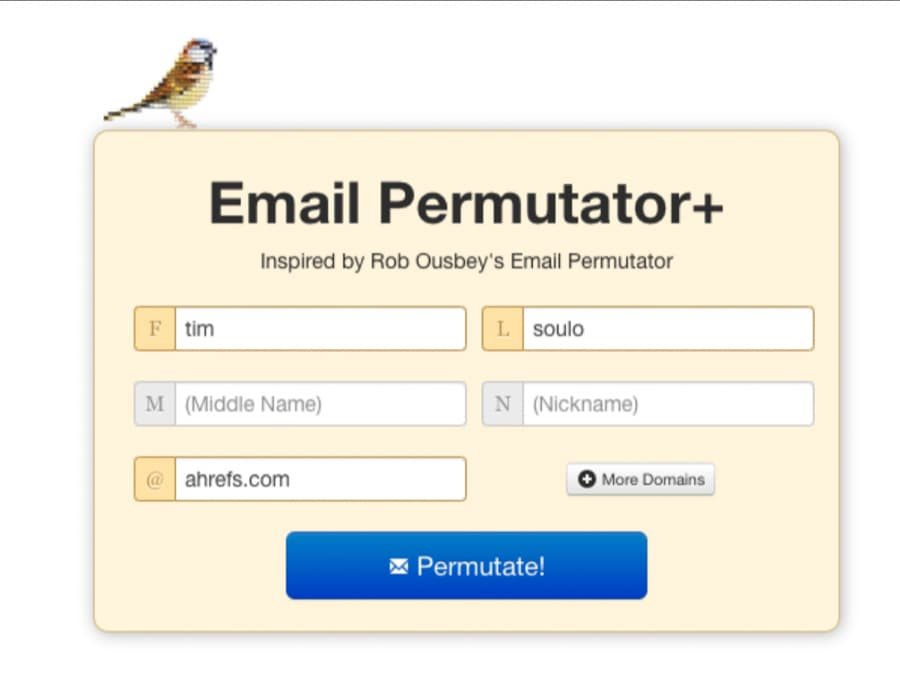 email permutator app to find email addres