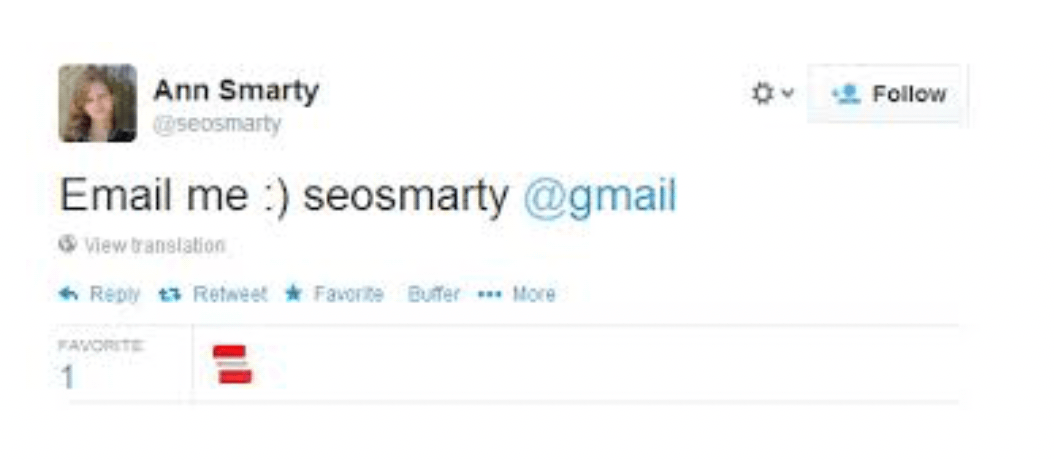 ask with a tweet to get email address