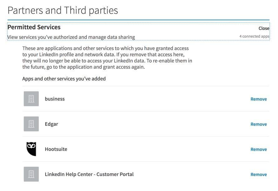 linkedin-app-settings