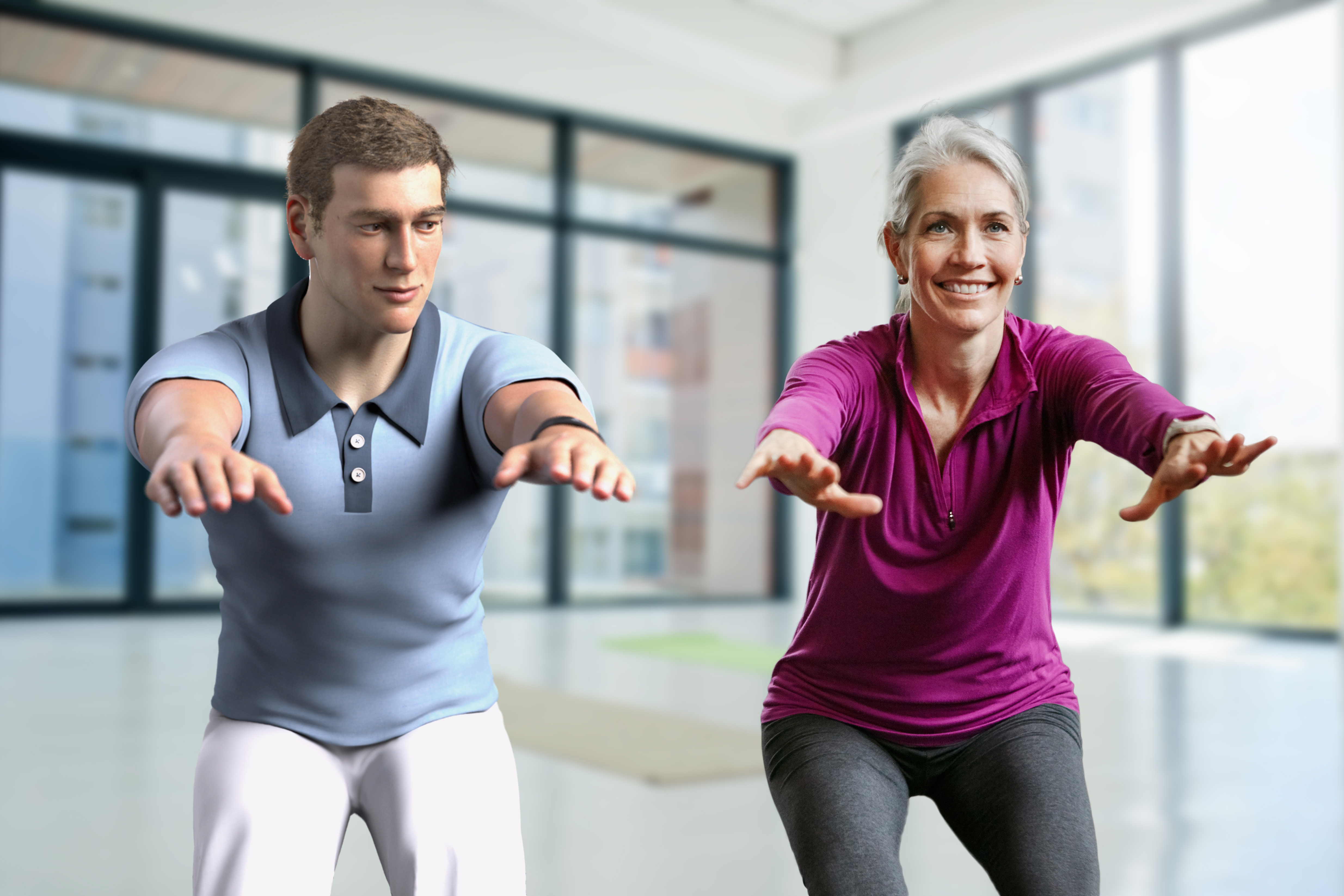 3D health and fitness coach