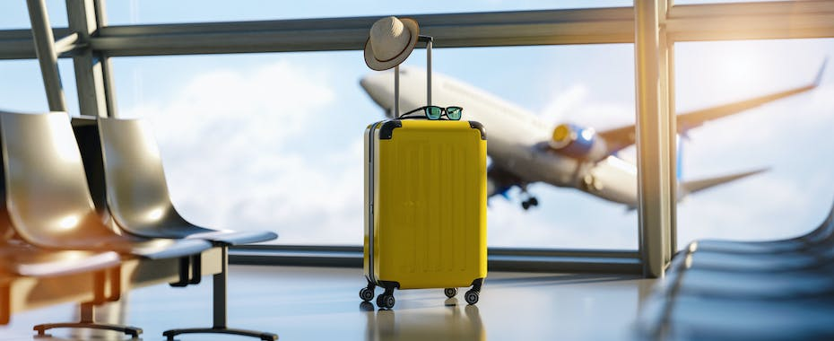 Lone Yellow Suitcase