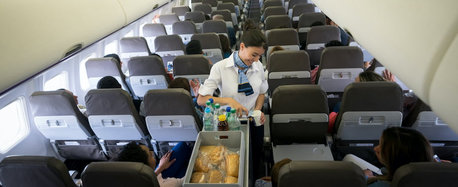 Airline customer service flight attendant