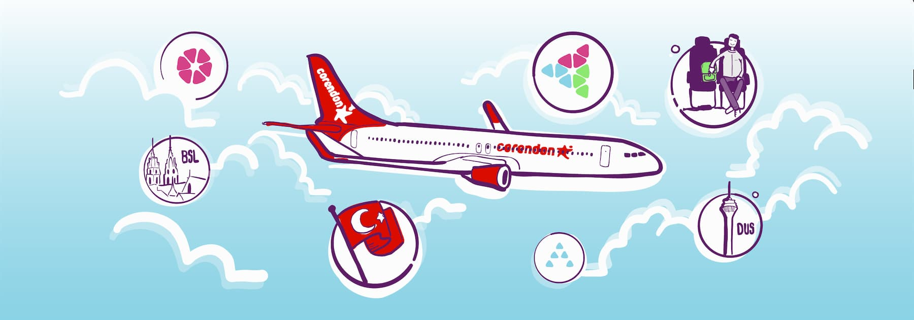 Corendon Airlines interview with CFO Olcay Türker on expansion and process transformation.