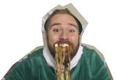 Kyle dressed as Buddy the Elf