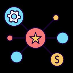 saas startup star vector