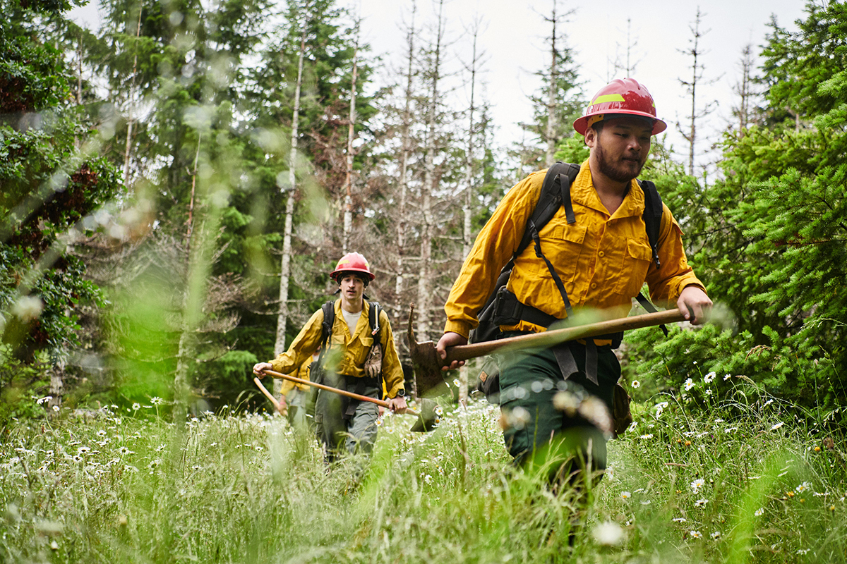 Confederated Tribes of Grande Ronde firefighters training